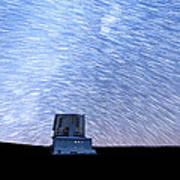 Star Trails Above Subaru Telescope Art Print