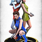 Star Trek - Kirks Angels Art Print by Frederico Borges