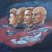 Star Trek Tribute Captains Art Print