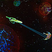 Star Trek -uss Enterprise Art Print by Michael Rucker