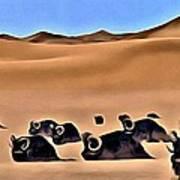 Star Wars Desert Animals Art Print