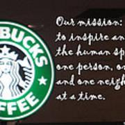 Starbucks Mission Art Print