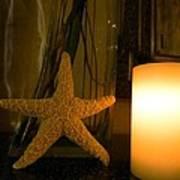 Starfish Candleglow Still Life Art Print