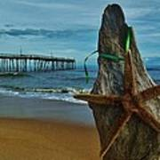 Starfish Driftwood And Pier 3 12/20 Art Print