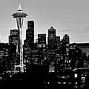 Stark Seattle Skyline Art Print