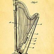 Starke Harp Patent Art 1931 Art Print