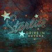 Starlite Drive In Art Print