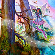Starr Lynn Holly Berry Fairy Art Print