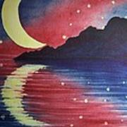 Starry Lake Art Print