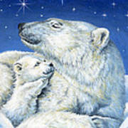 Starry Night Bears Print by Richard De Wolfe