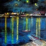 Starry Night Over The Rhone River Art Print