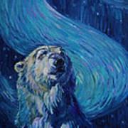 Starry Night Van Gogh Bear Art Print