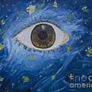 Starry Night With Eye  Art Print
