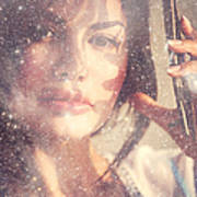 Starry Woman. Day Dreamer Art Print