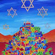 Stars Above Jerusalem Art Print