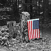 Stars And Stripes With Selective Color Art Print