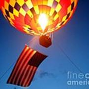 Stars And Stripes Glow Art Print