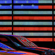 Stars And Stripes Reflected Art Print