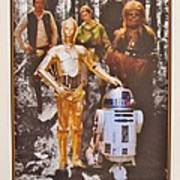 Stars Wars Autographed Movie Poster Art Print