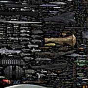 Starships... Art Print