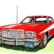 Starsky Hutch 1974 Ford Gran Torino Sport Art Print