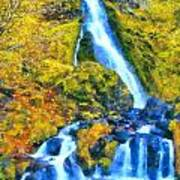 Starvation Creek Falls Art Print