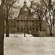 State Building Boston Massachusetts Circa 1900 Art Print