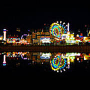 State Fair In Reflection Art Print