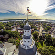 State House Beauty Over Annapolis Art Print