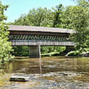 State Road Covered Bridge Art Print