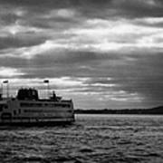 staten island ferry Andrew J Barberi heading towards staten island Art Print