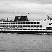 staten island ferry Andrew J Barberi new york usa Art Print
