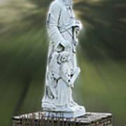 Statue 20 Art Print