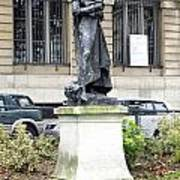 Statue In A Paris Park Art Print