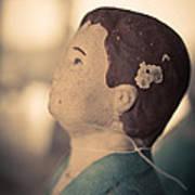 Statue Of A Boy Praying Art Print
