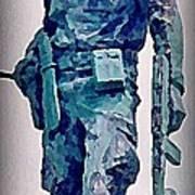 Statue Of An Old Revolutionary Cuban Art Print