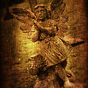 Statue Of Angel Art Print by Amanda Elwell