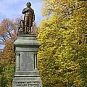 Statue Of Daniel Webster - Central Park Art Print
