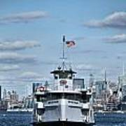 Statue Of Liberty Ferry Art Print