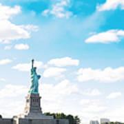 Statue Of Liberty On New York City Art Print