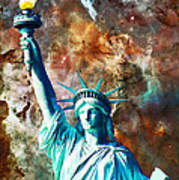 Statue Of Liberty - She Stands Art Print