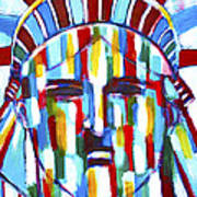 Statue Of Liberty With Colors Art Print