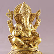 Statue Of Lord Ganesh Art Print