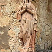 Statue Of Mary In Mission Garden Art Print