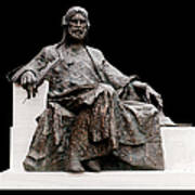 Statue Of Nizami Ganjavi  Art Print
