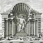 Statue Of Olympian Zeus Print by Johann Bernhard Fischer von Erlach