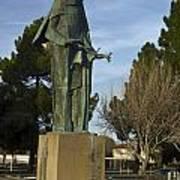 Statue Of Saint Clare Santa Clara Calfiornia Art Print