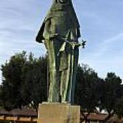 Statue Of Saint Clare Santa Clara California Art Print