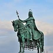 Statue Of St Stephen Hungary King Art Print
