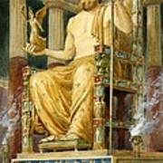 Statue Of Zeus At Oympia Art Print by English School